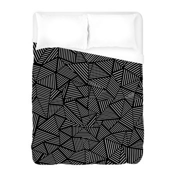 Ab Linear Black Duvet Cover