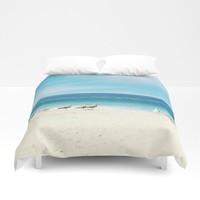wave watching Duvet Cover by sylviacookphotography