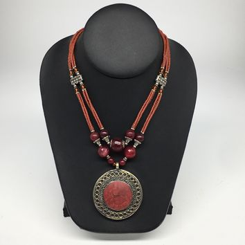 Turkmen Necklace Afghan Antique Tribal Fashion Multi Strand Beaded Necklace S135