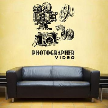 ik1133 Wall Decal Sticker camera film studio photographer