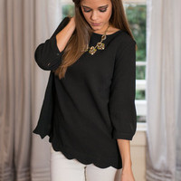 Show You Love Top, Black
