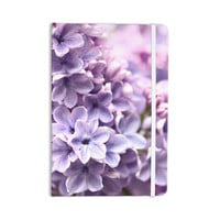 """Sylvia Cook """"Lilac"""" Purple Flowers Everything Notebook"""