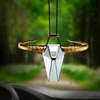 Zinc Alloy OX Horn Car Rearview Mirror Decoration Pendant Fashion Auto Bull Hanging Ornament Automobiles Car Styling Accessories