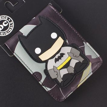 Comics DC Marvel Cartoon PVC Bags Kids Wallets Cool Batman Creation Purse Fashionable Durable Wallet carteira feminina