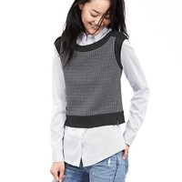 Banana Republic Womens Colorblock Quilted Top
