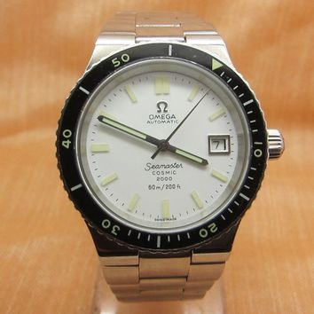 Vintage Omega Seamaster Cosmic 2000 Divers Mens Automatic 1012 Swiss Watch 60m