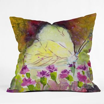 Ginette Fine Art Southern White Butterfly Throw Pillow