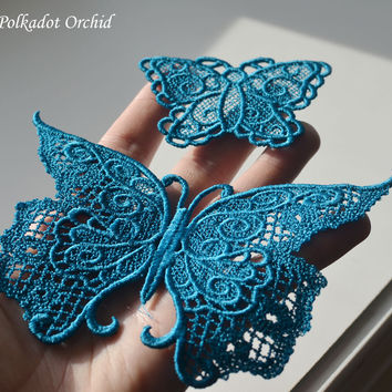 Lace Butterfly Appliques - 5.3 or 2.75