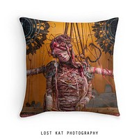 Steampunk Knitter Decorative Throw Pillow Cover- 5 Sizes