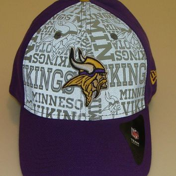 New Era Hat Cap NFL Football Minnesota Vikings 39thirty M/L 2014 Draft Flex Fit
