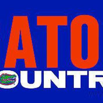 Florida Gators COUNTRY SD Deluxe Laser Cut License Plate Tag University of