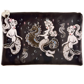 Pin-Up Of The Sea Mermaid Zipper Pouch