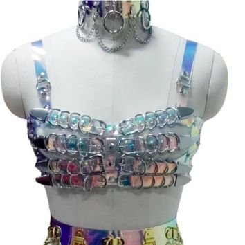 Dominatrix Harness in Clear Holographic