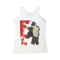 Michael Jackson Shirt King of Pop Women Tank Top Vest Sleeveless Women T-Shirt Size S M L