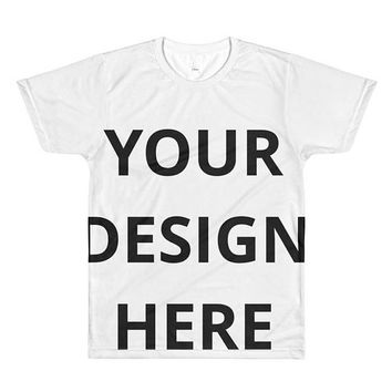 Personalized All-Over Printed T-Shirt - Men's Custom Sublimation T-Shirt