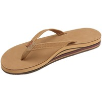 Women's Rainbow Sandals Premier Leather Double Stack Narrow Strap
