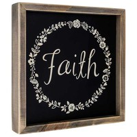 Faith Wood Sign with Floral Wreath Design | Hobby Lobby | 1126093
