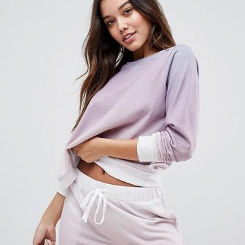 ASOS LOUNGE Dip Dye Sweater at asos.com