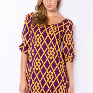 Kickoff Purple & Gold Gameday Dress