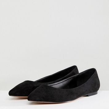 ASOS DESIGN Latch Extra Wide Fit Pointed Ballet Flats at asos.com