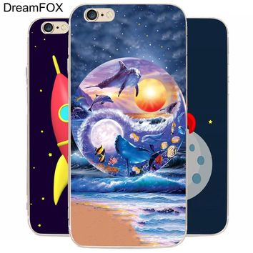 DREAM FOX K009 Acid Trip Tumblr Transparent Hard Thin Case Cover For Apple iPhone XR XS Max 8 X 7 6 6S Plus 5 5S SE 5C 4