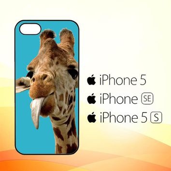 Giraffe Funny V1486  iPhone 5|5S|SE Case