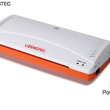 LIZENGTEC Professional Office Hot and Cold Roll Laminator Machine for A4 Paper