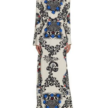 Long-sleeved printed crepe dress | MSGM | MATCHESFASHION.COM US