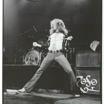 Led Zeppelin Robert Plant London 1975 Poster 23x34