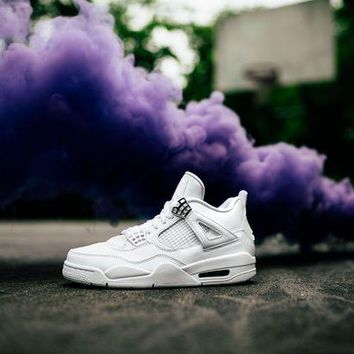 Air Jordan 4 Retro 'Pure Money' Basketball Shoes <>