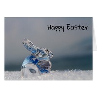 Glittering bunny easter bunny card