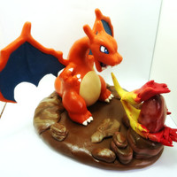 POKEMON: CHARIZARD and Carnelian Sculpture - Make to Order