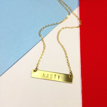 Nasty Woman Necklace in Gold