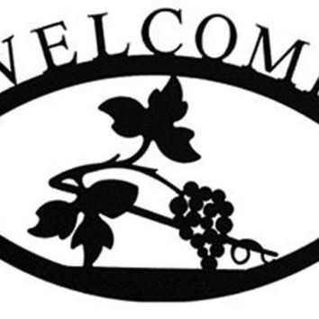 Wrought Iron Large Grapevine Welcome Home Sign Large