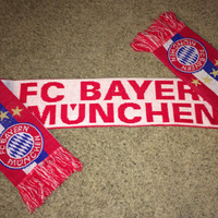 Sale!! Vintage BAYERN MUNICH Soccer Scarf MUNCHEN Germany Football Shirt Jersey