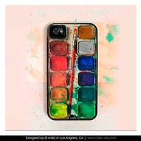 Watercolor Set iPhone Case - iPhone 4 case iPhone 4s case