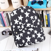 Irregular Casual Canvas Strong Character Korean England Style Backpack = 4887949124