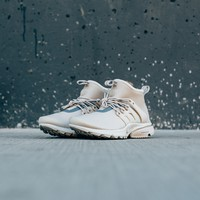 kuyou Nike Women's Air Presto Mid Utility - String/String-Reflective Silver