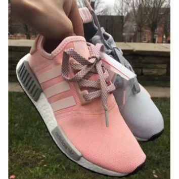"Women ""Adidas"" Fashion Trending Pink/Grey Leisure Running Sports NMD Shoes"