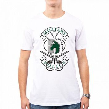 Cool Attack on Titan T-SHIRT MAN MILITARY POLICE  OP0036A PACDESIGN Good Quality Brand Cotton Shirt Summer Style Cool Shirts AT_90_11
