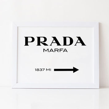PRADA GOSSIP GIRL,Prada Marfa,Prada Wall Art,Prada Sign,Prada Fashion Decor,Prada Office Decor,Bedroom Wall Art,Prada Poster,Typography Art