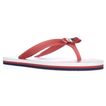 Kate Spade New York Fiji Bow Stud Flip Flop Sandals - Marachino Red