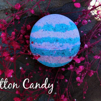 Cotton Candy Bath bomb, glitter bathbomb, Girlfriend gift, Girl present
