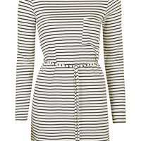 Stripe Belted Dress - Topshop
