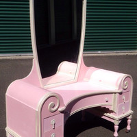 Pink/Pearly White Glamazon 1920's Vanity ASCP