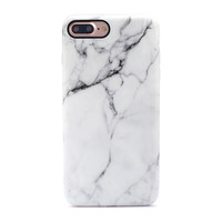 Retro White Marbled Stone Case for iPhone 6 6s Plus & iPhone 7 Plus +Gift Box
