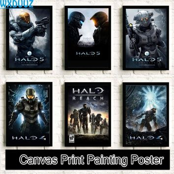 Halo First-person shooter Painting quality HD Home Decor Art Decor living posters wall art canvas painting No Frame K74