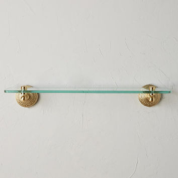 Brass Medallion Shelf