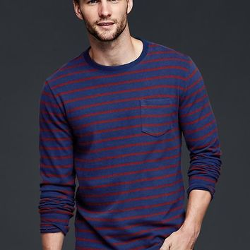 Gap Men Breton Stripe Pocket T Shirt
