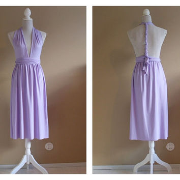 Tea length convertible dress, infiniti dress, bridesmaids infinity dress.
